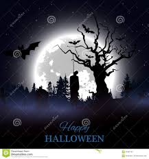 halloween design background halloween design background with spooky graveyard stock