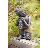 buddha garden ornament small at homebase co uk