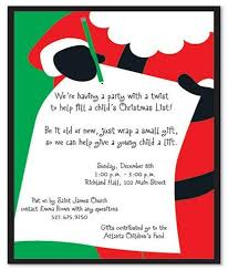 holiday gift exchange invitation words cogimbo us