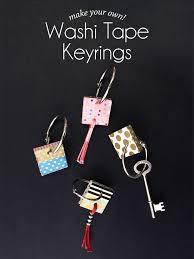 make key rings images Diy washi tape keyrings paper and pin png