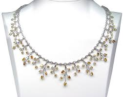 colored necklace images Natural fancy pink diamonds yellow diamonds colored diamond and jpg