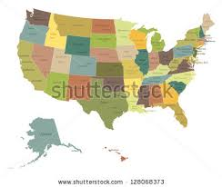 map of america showing states and cities united states map vector free vector stock