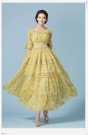 maxi dresses with sleeves european yellow women s dress sleeve pleated chiffon maxi