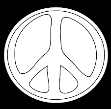 fantastic zebra print peace sign coloring pages with peace