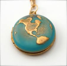 World Map Necklace by Locket Necklace World Globe Map Jewelry Locket Necklace Planet