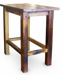 Wooden Bar Table Square Bar Height Table Foter