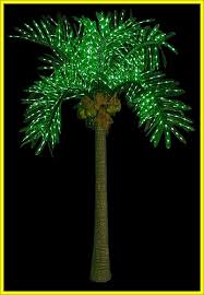 Outdoor Lighted Trees 10ft Artificially Lighted Led Outdoor Palm Tree Tropical Tiki