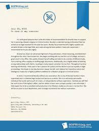 sample letter of recommendation for master level