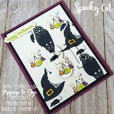 stampin up halloween stamps stampin u0027 up spooky cat eclipse handmade halloween card with large