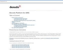 denodo platform for aws quickstart guide