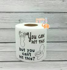 Toilet Paper Funny Hunting Embroidered Toilet Paper Gift For Him Fathers Day Gift