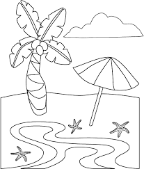 beach coloring pages kids printable beach ball coloring