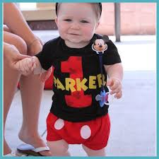 infant toddler boys 1st birthday mickey mouse personalized 1