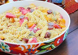 Summer Entertaining Ideas - pasta fruit salad summer salad recipe michelle u0027s party plan it