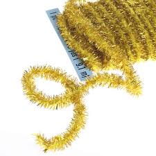 gold tinsel wireless chenille rope garland pipe cleaners