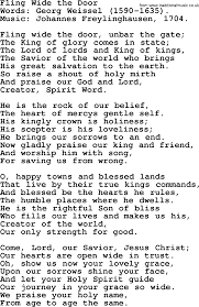 Hymns Of Comfort Advent Hymns Song Fling Wide The Door Complete Lyrics And Pdf
