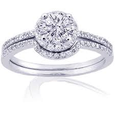 engagement rings and wedding band sets wedding band with halo engagement ring with romovable