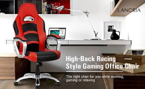 Racing Office Chairs Amazon Com Langria High Back Racing Style Gaming Chair Ergonomic