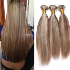 weave hair extensions 8 613 two tone medium golden brown and mix piano color