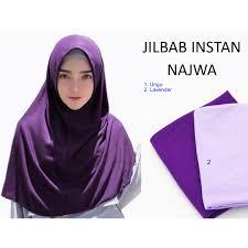 Kerudung Murah najwa instan khimar jilbab instan kerudung murah