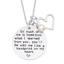amazon com o riya graduation gift teacher necklace christmas