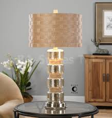 Beautiful Lamps Lighting Studio Bull Nose Cylinder Table Lamp In Mercury Glass