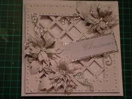 75 cardmaking tutorial sparkly poinsettia christmas lattice card