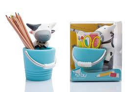 amazon com bubu pen u0026 pencil holder desk organizer blue
