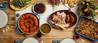 thanksgiving menu with recipes baked in the south