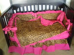 Bright Pink Crib Bedding by New Pink And Brown Cheetah Baby Crib Bedding Set