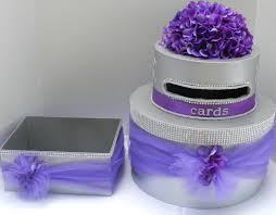 bling wedding programs purple bling wedding cake card box program box