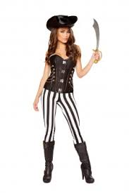 White Corset Halloween Costumes Pirate Costumes Cheap Pirate Costume Wench Costume