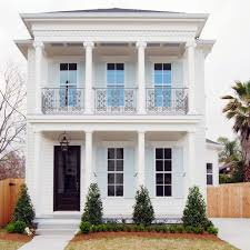 shotgun house exterior tropical with columns rectangular outdoor