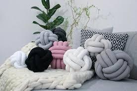 knot pillows knot pillows trend popsugar home