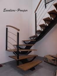 escalier design bois metal escalier 1 4 tournant métiss à limons droit limon métiss en