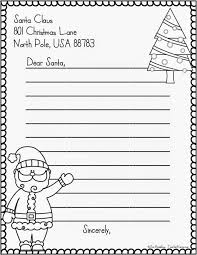 letter to santa free template sample letter template