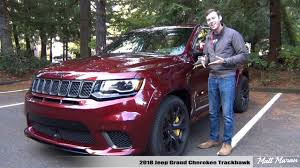 jeep trackhawk back review 2018 jeep grand cherokee trackhawk youtube