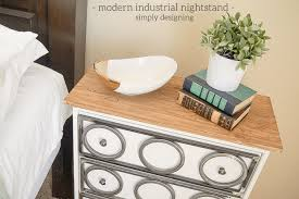 modern industrial nightstand ikea rast hack