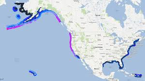 United States Map With Oceans by Wave Power The Why Files