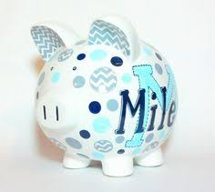 Monogram Piggy Bank Painted This Giraffe Piggy Bank From Home Goods To Match Pottery