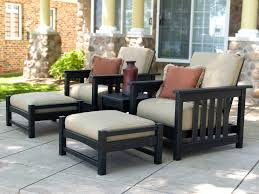 Recycled Plastic Outdoor Furniture Polywood Mission Recycled Plastic Deep Seating Club Lounge Set