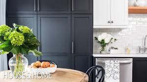 two tone kitchen cabinets with black countertops small kitchen makeover black white two tone cabinets