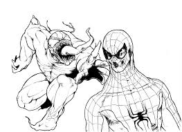 images spiderman carnage coloring pages