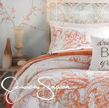 Orange And White Comforter Set Jessica Simpson Scroll Ombre Twin Twinxl Comforter Set 2pc Orange