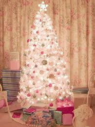 pink christmas tree decorations people use flowers to decorate
