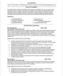 modern resume exles for executives best solutions of sle resume of hr executive about summary