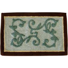 Brown Bathroom Rugs Mainstays Butterfly Blessing Decorative Bath Collection Bath Rug
