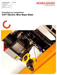 cxt electric wire hoist konecranes pdf catalogue