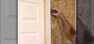 Installing Exterior Door Jamb Door Jamb Repair A How To Replace An New Picture Replacing