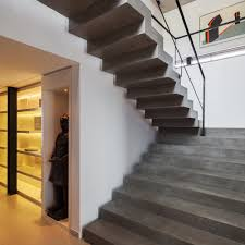 Black Banister Great Planalto House With Concrete Ladder With Suitable Black